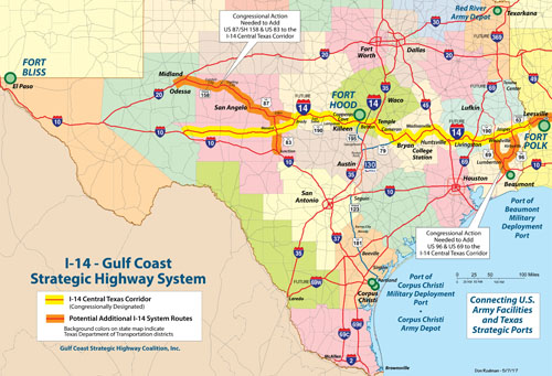 Strategic Highway - Texas interstate map